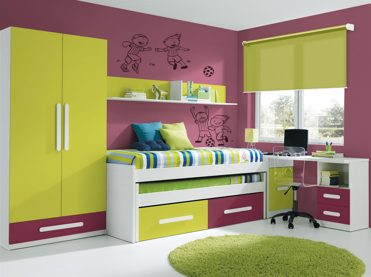 Dormitorio juvenil sin armario Dormitorio juvenil en l