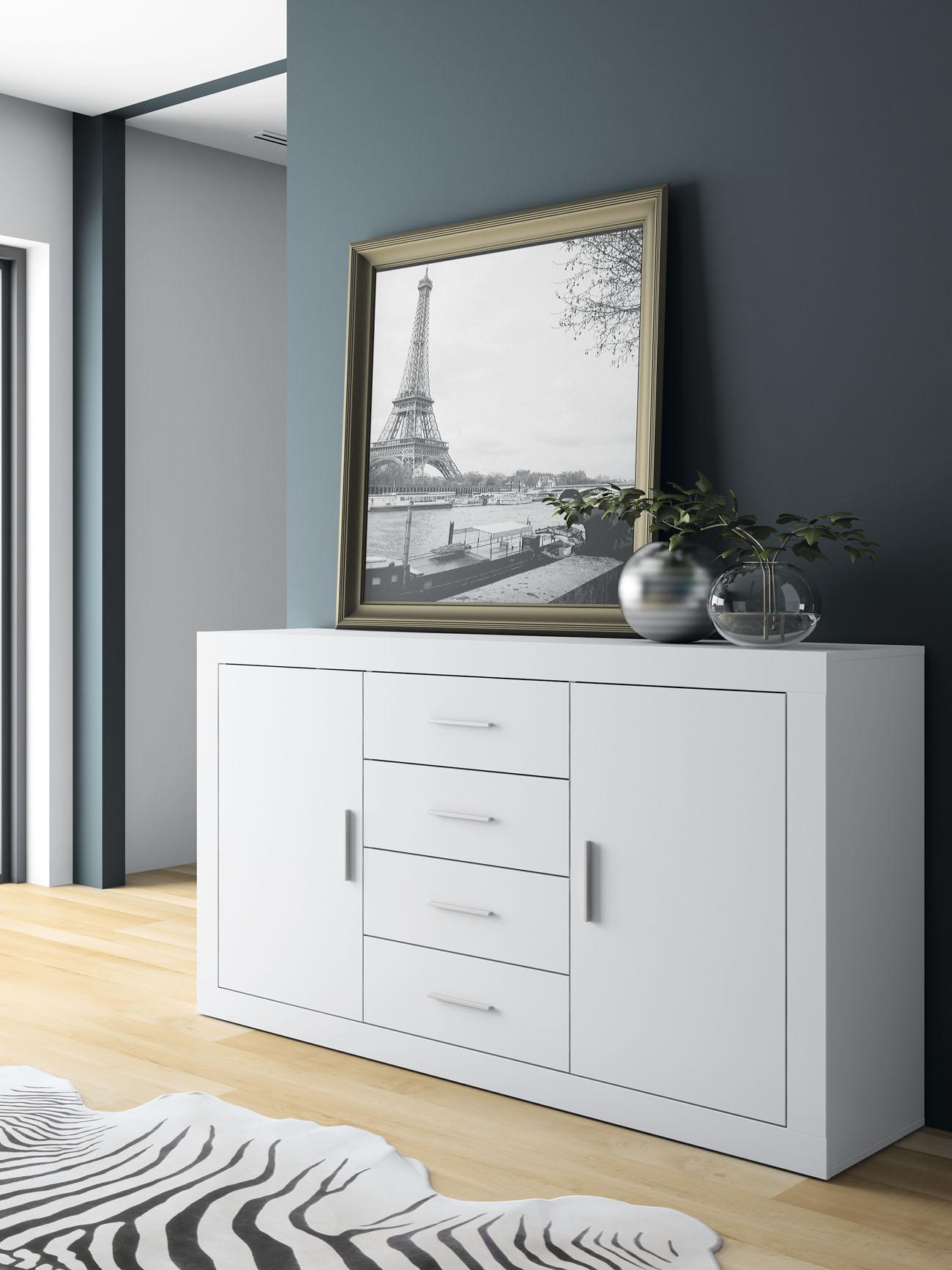 Mueble aparador compuesto de 4 cajones for Cajones para muebles