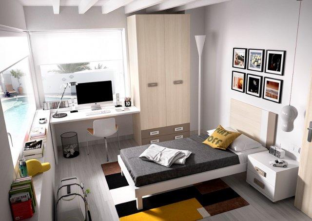 Muebles paco caballero dormitorio juvenil for Camas en l juveniles