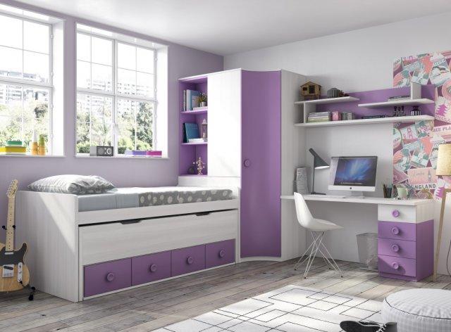 Muebles paco caballero dormitorio juvenil for Compactos juveniles