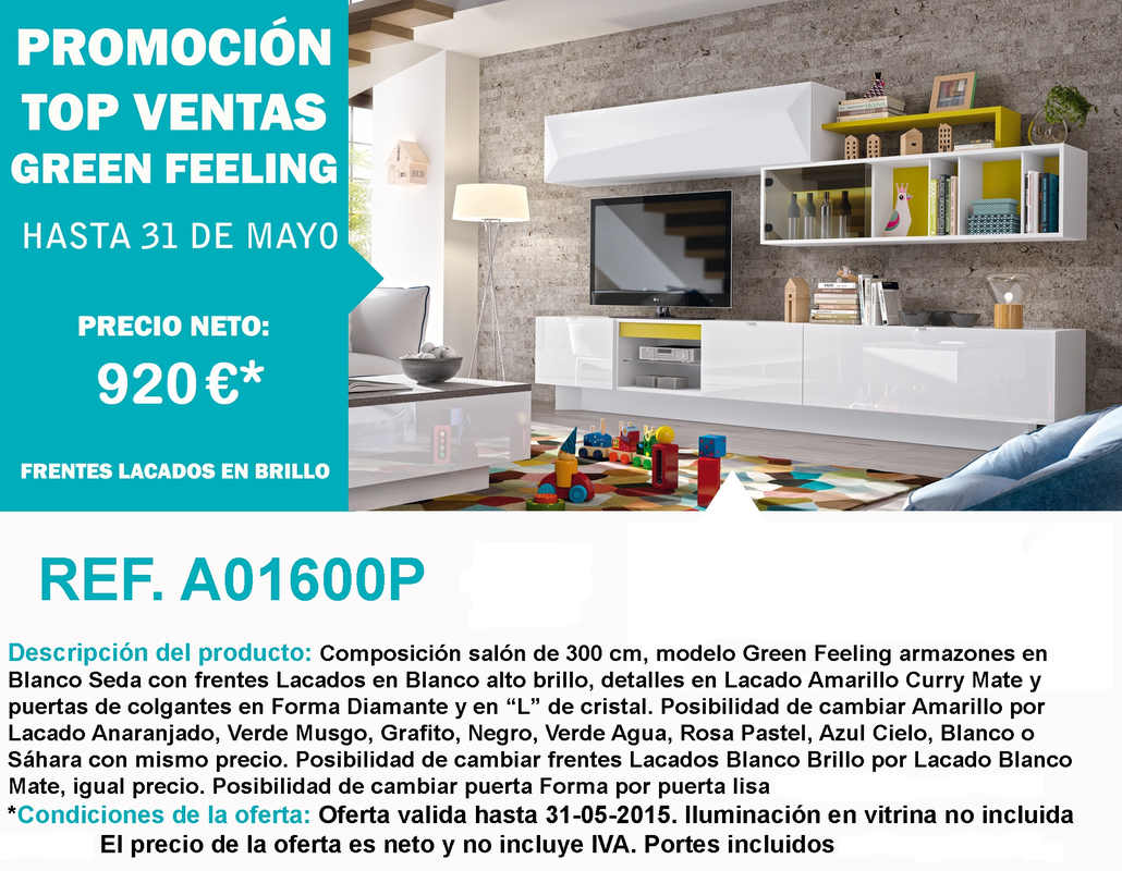 Promoción Top Ventas Green Feeling