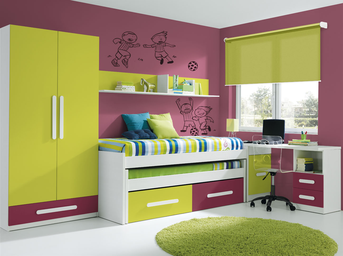 Dormitorio juvenil sin armario for Muebles de dormitorio infantil