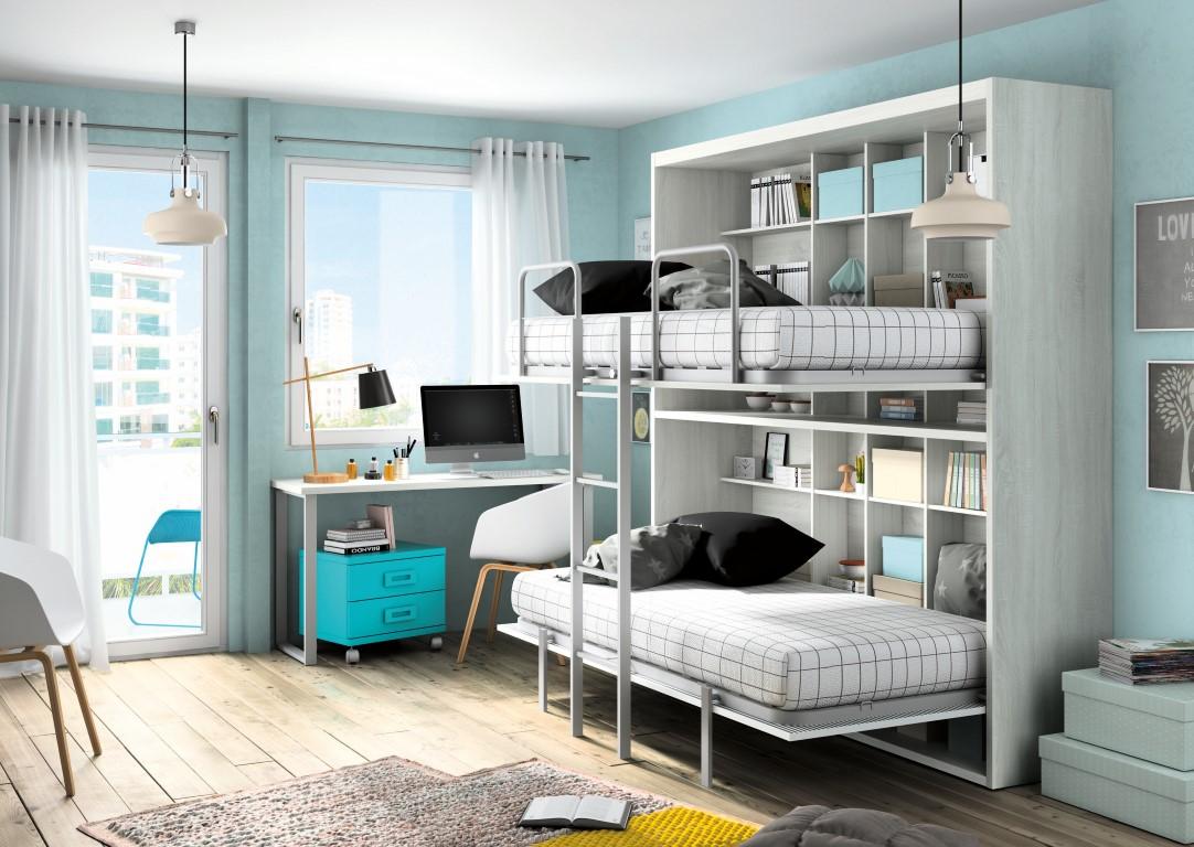 Muebles paco caballero dormitorio juvenil for Dormitorios juveniles abatibles