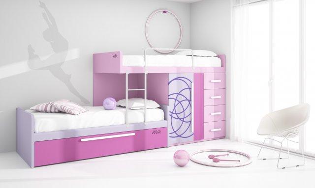 Muebles paco caballero dormitorio juvenil for Dormitorios juveniles tipo tren