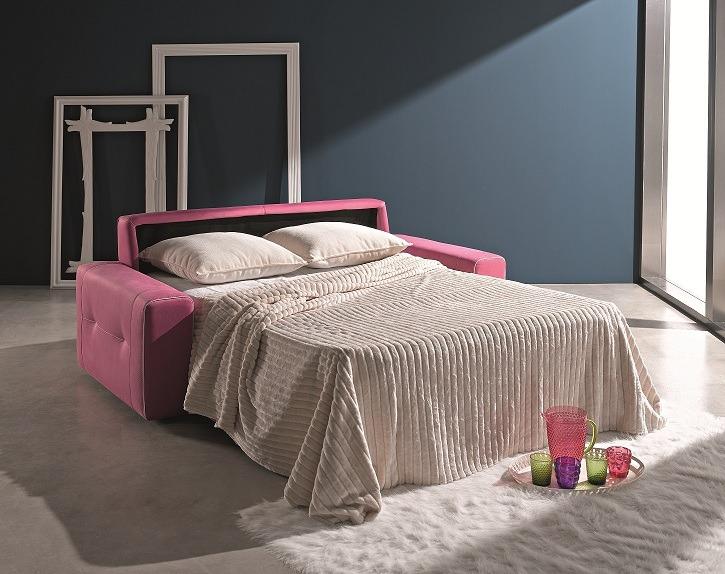 Sofá-cama abierto en Muebles Paco Caballero